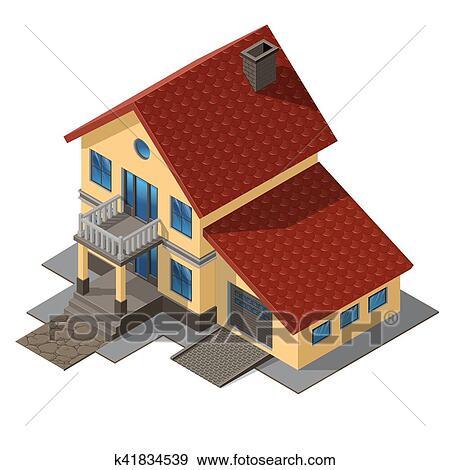 Clipart Americain Petite Maison Petit Maison Bois K41834539