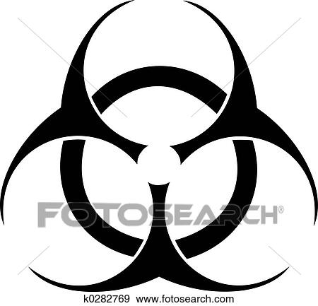 Stock Illustration Of Biohazard Symbol K0282769 Search Vector