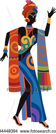 afrikansk ibenholt pige