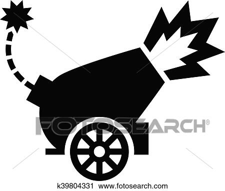 clipart of war cannon firing cannonball k39804331 search clip art rh fotosearch com clipart cannolli clip art canning fair