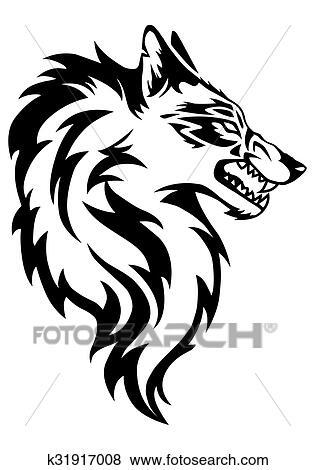 イラスト の 狼 顔 写真館イメージ館 K31917008 Fotosearch