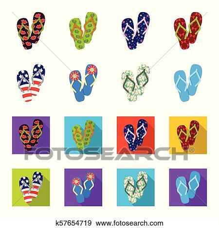 90d0de06e893 Flip-flops cartoon