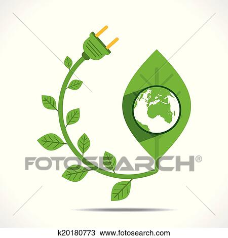 Clipart Of Go Green Or Save Earth Concept K20180773 Search Clip