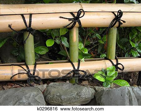 Stock Bilder Japanische Bambus Zaun K0296816 Suche