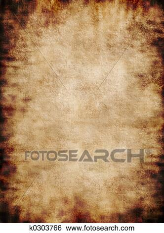 stock illustration of ancient rustic grungy parchment paper texture