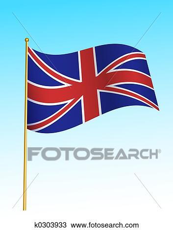 Bandera Reino Unido 2 Dibujo K0303933 Fotosearch