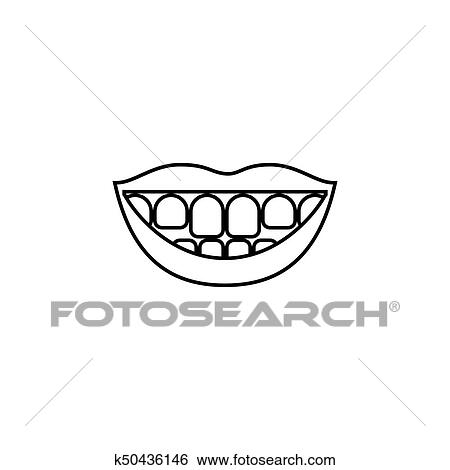 Mouth clipart black and white, Mouth black and white Transparent FREE for  download on WebStockReview 2020