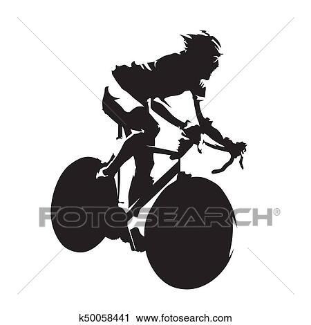 clipart ciclismo estrada raça abstratos ciclista isolado