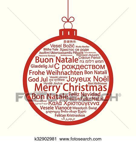 Etiketten Frohe Weihnachten.Frohe Weihnacht Etikett Wolke Geformt Als A Weihnachtskugel Vektor Clipart
