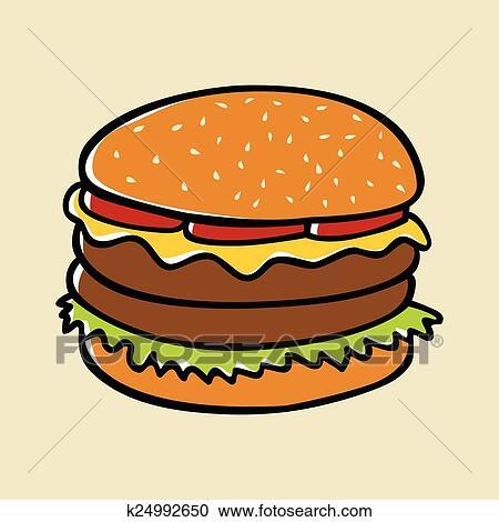 clipart of hamburger k24992650 search clip art illustration