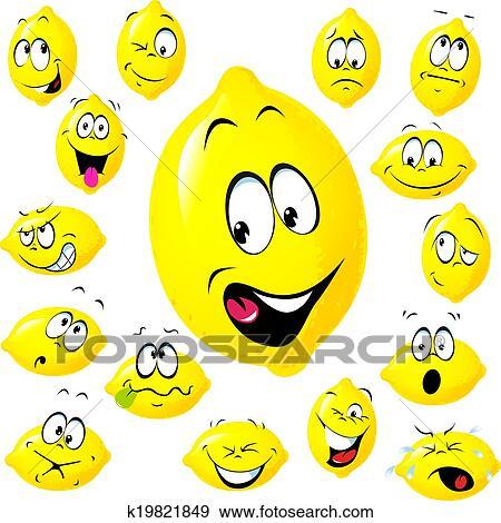 Clip Art Of Lemon Cartoon K19821849 Search Clipart Illustration