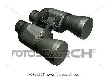 Bild schwarze ferngläser zoom linsen freigestellt
