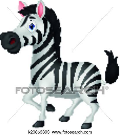 Zebra cartone animato clipart k20853893 fotosearch