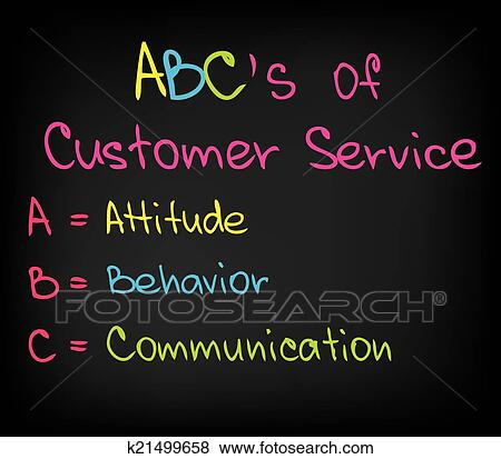 Clip Art Of ABC Approach To Customer Service K21499658