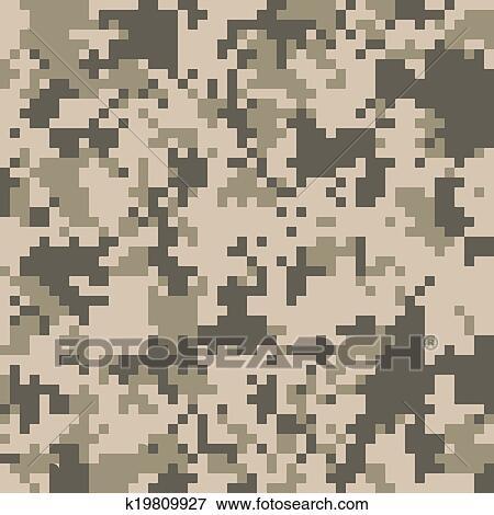 Clip Art Of Digital Camo Vector Pattern K19809927 Search