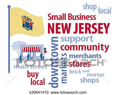 b15376c8e7e Stock Illustrations of New Jersey Flag