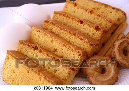 Stock Foto Zwieback Kuchen Keks K0311984 Suche Stockbilder