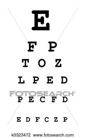 Stock Photo Of Eye Test Chart K0323472 Search Stock Photography