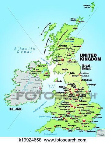 Kaart Van Engeland Clipart K19924658 Fotosearch