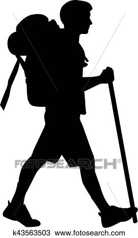 Man Hiking Clipart
