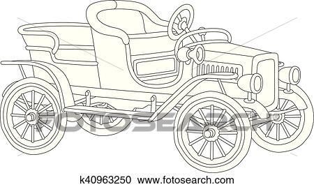Clipart Of Old Vintage Car K40963250 Search Clip Art Illustration
