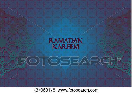 Clip art of ramadan greetings background k37063178 search clipart ramadan greetings background ramadan kareem means ramadan the generous month m4hsunfo