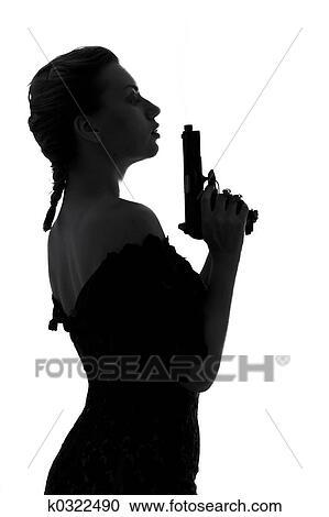 stock photography of smoking gun k0322490 search stock photos