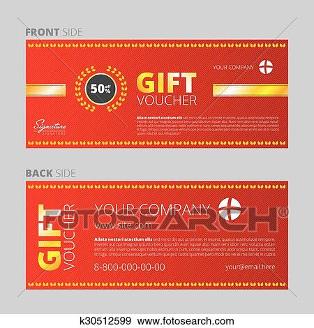 clip art of design of voucher and gift certificate k30512599