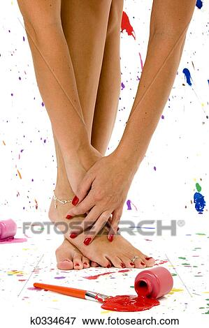 Picture Sexy Feet And Hands Fotosearch Search Stock Photography Photos Prints