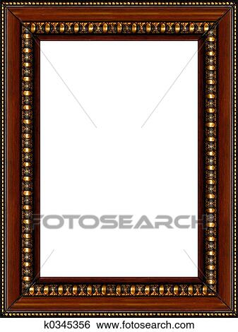 Stock Images Of Antique Rustic Wooden Picture Frame Isolated