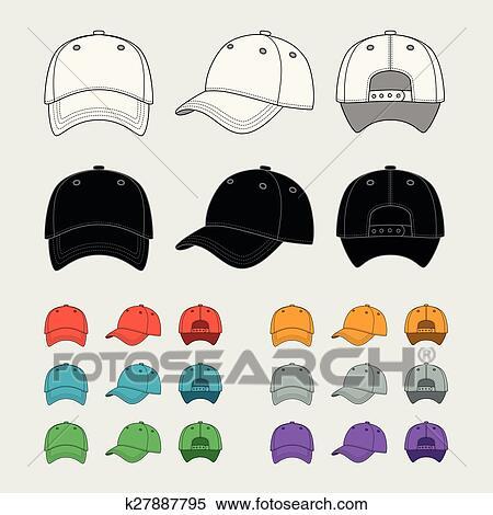 clipart of baseball cap vector template k27887795 search clip art