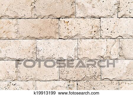 Building natural stone cladding Stock Photo