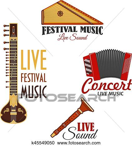 clipart of musical instruments vector icons for music concert rh fotosearch com instrument clip art transparent instrumental clip art