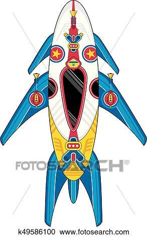 Dessin Vaisseau Spatial clipart - dessin animé, vaisseau spatial k49586100 - recherchez des