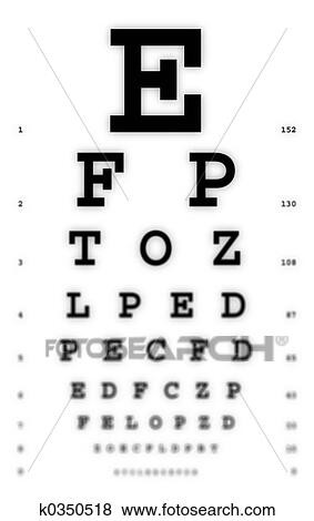 Pictures Of Fuzzy Eye Chart K0350518 Search Stock Photos Images