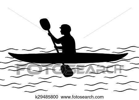 stock illustrations of kayaking k29485800 search clipart