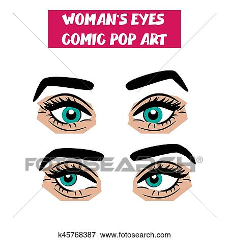 Sexy eyes cartoon