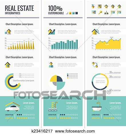 clip art of real estate infographic elements k23416217 search