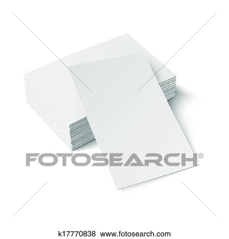 Clip art of stack of blank business card k17770838 search clipart stack of blank business card with one card in front on white background with soft shadows vector illustration eps10 reheart Gallery