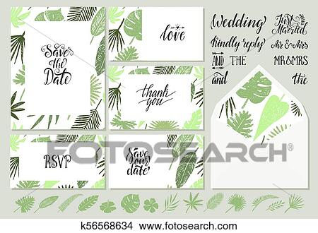 Wedding Invitations Templates With Tropical Leaves Clipart K56568634 Fotosearch Tropical black leaves on dark background vector. fotosearch