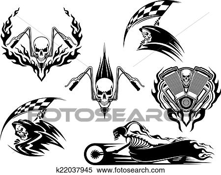 Clipart Of Death Road Accident And Racing Characters K22037945