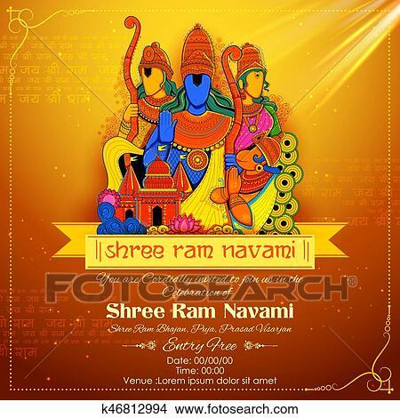 Shree Ram Navami Celebration For Religious Holiday Of India Royalty Free  Cliparts, Vectors, And Stock Illustration. Image 120544757.