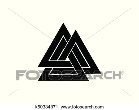 Clipart Of Valknut Is A Symbol Of The Worlds End Of The Tree