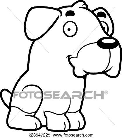 clipart of cartoon rottweiler sitting k23547225 search clip art rh fotosearch com Rottweiler Artwork Rottweiler Logo