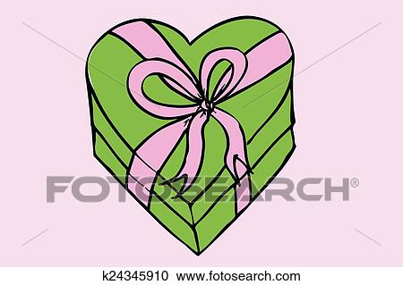 Hand Draw Sketch Gift Box Clipart K24345910