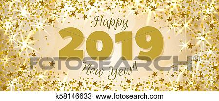 clipart happy new year 2019 banner fotosearch search clip art illustration murals
