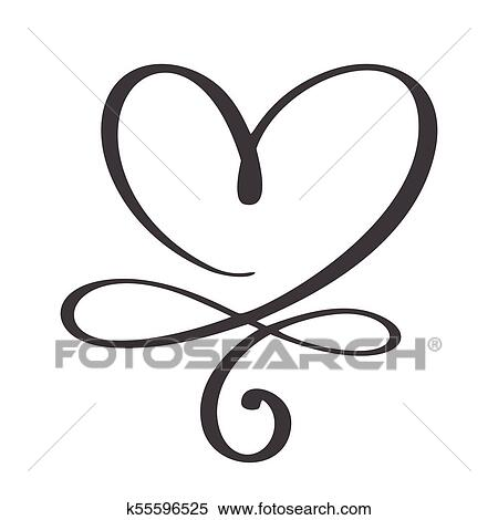 Clipart Of Heart Love Sign Forever Infinity Romantic Symbol Linked