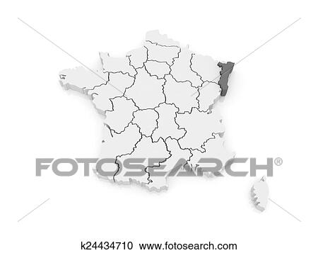 Stock Illustrations Of Map Of Alsace France K24434710 Search