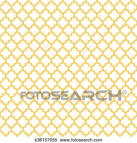 Clipart Of Seamless Vintage Trellis Pattern K36157055