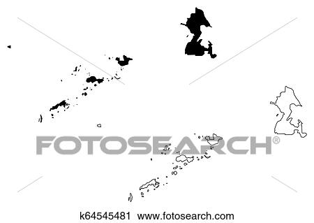 Clipart Of Autonomous Region In Muslim Mindanao Map K64545481